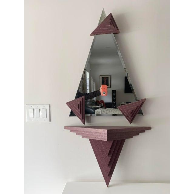 1980's Memphis Design Mirror & Shelf - 2 Pieces For Sale - Image 13 of 13