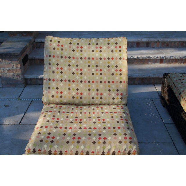 Wicker Summer Classics- Rustic Woven Chaise Lounge and Cushion For Sale - Image 7 of 13