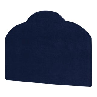 The Crown Headboard - Queen - Kate - Luxe Velvet, Prussian Blue For Sale