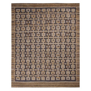 Rug & Kilim's Scandinavian Inspired Gold Rug-8'3'x12'2' For Sale