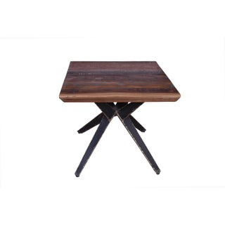 Faunia Coffee Table With Iron Legs, Living Room, Wooden Top, Rustic Natural Finish, Wood and Metal, Home Furniture- Natural Preview