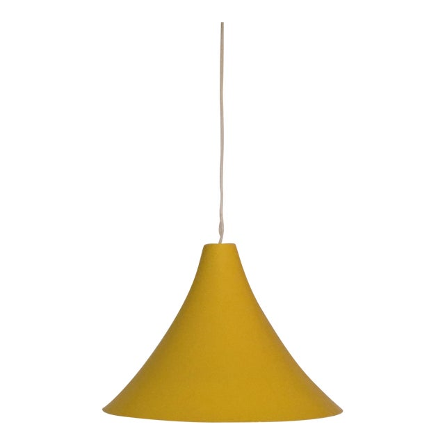 1960s Vintage Yellow Pendant Lamp For Sale