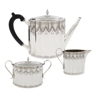 Rare Three-Piece Gorham Sterling Silver Tea or Coffee Service C. 1872 For Sale