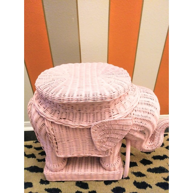 This is a sweet wicker elephant done in a pretty pale pink color. This is an adorable versatile piece that can be used as...