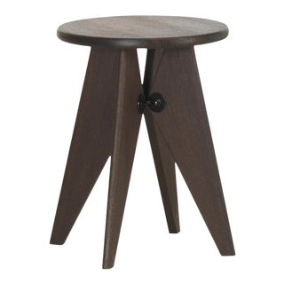 Vitra Tabouret Solvay Stool in Smoked Oak by Jean Prouvé For Sale