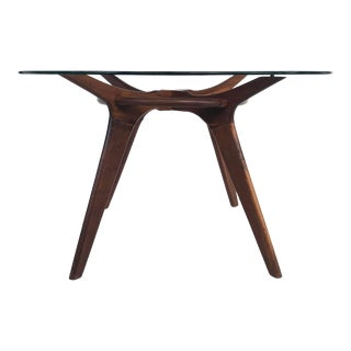 Mid-Century Adrian Pearsall Center/Breakfast Table W/ Glass Top For Sale
