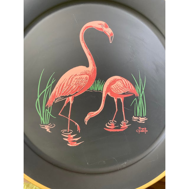 Metal Vintage Florida Frank Childers Flamingo Wall Object For Sale - Image 7 of 11