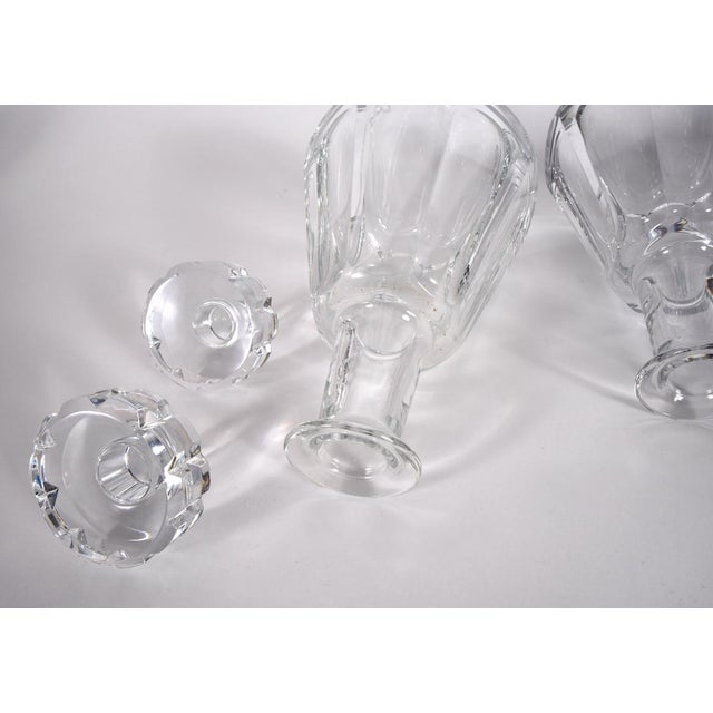 Traditional Pair of Cut Crystal Drinks Baccarat Decanters For Sale - Image 3 of 6