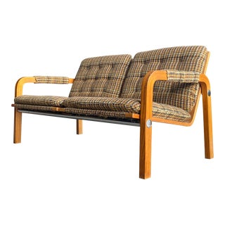 1960s Mid Century Modern Thonet Settee Bench For Sale