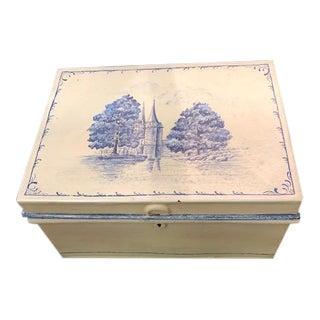 Authentic Antique French Metal Document Box For Sale