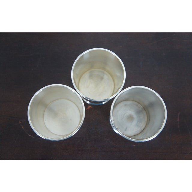 Sterling Silver Mark J Scearce Presidential Mint Julep Cups Richard Nixon Rmn - Set of 3 For Sale - Image 4 of 13