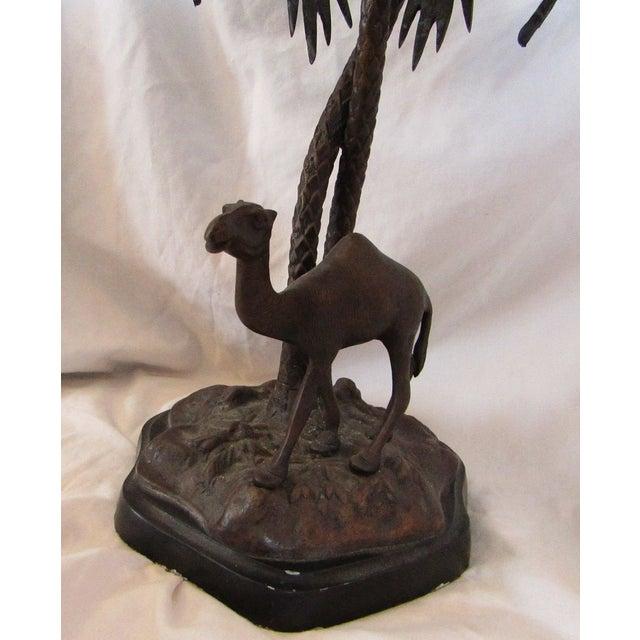 Camel & Palm Tree Pedestal Bowl For Sale - Image 5 of 7