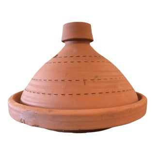 Mid 20th Century Moroccan Clay Tagine For Sale