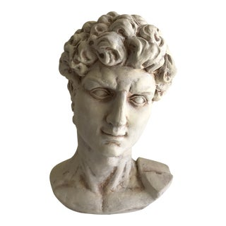 Paris Apt Vintage Sculptural Male Bust For Sale