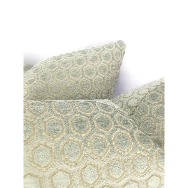 Jim Thompson Intara Seafoam Light Sage Chenille Pillow Cover For Sale In Portland, OR - Image 6 of 7