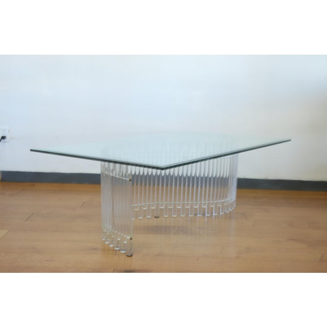 Contemporary Vintage Lucite Coffee Table For Sale - Image 4 of 10