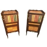 Image of 1940s French Faux Book Side Tables - a Pair For Sale