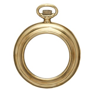 Vintage Brass Pocket Watch Mirror For Sale