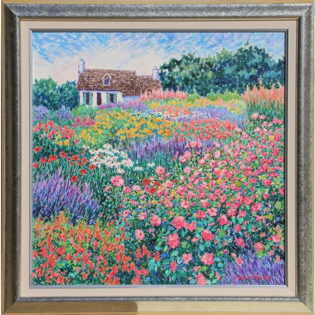 """Diane Monet, """"Flower Philharmonic"""", Impressionist Landscape Painting For Sale"""