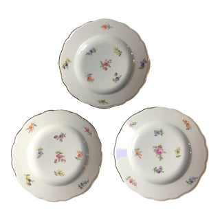 Meissen Dessert Plates - Set of 3 For Sale