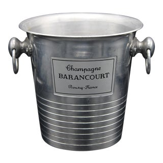 French Barancourt Silver Champagne Ice Bucket For Sale