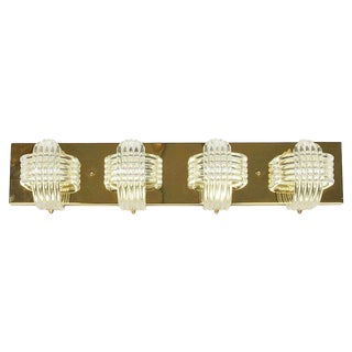 Hollywood Regency Sculptural Lucite and Brass Wall Light by Lightolier For Sale