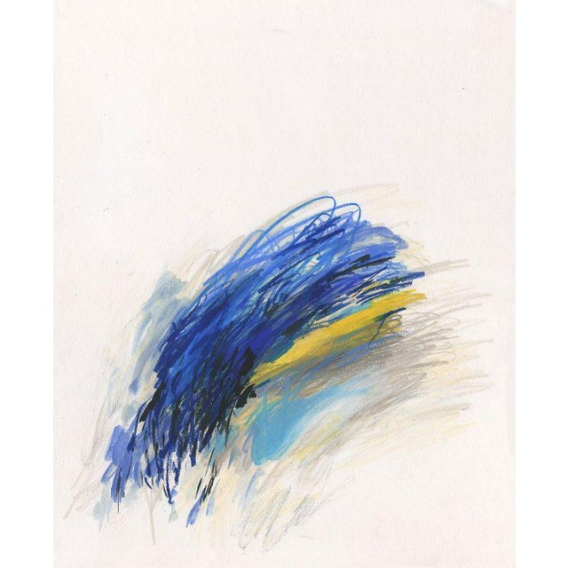 A sensual flurry of color and line, reminescent of modern masters such as Joan Mitchell and Cy Twombly. Printed on...