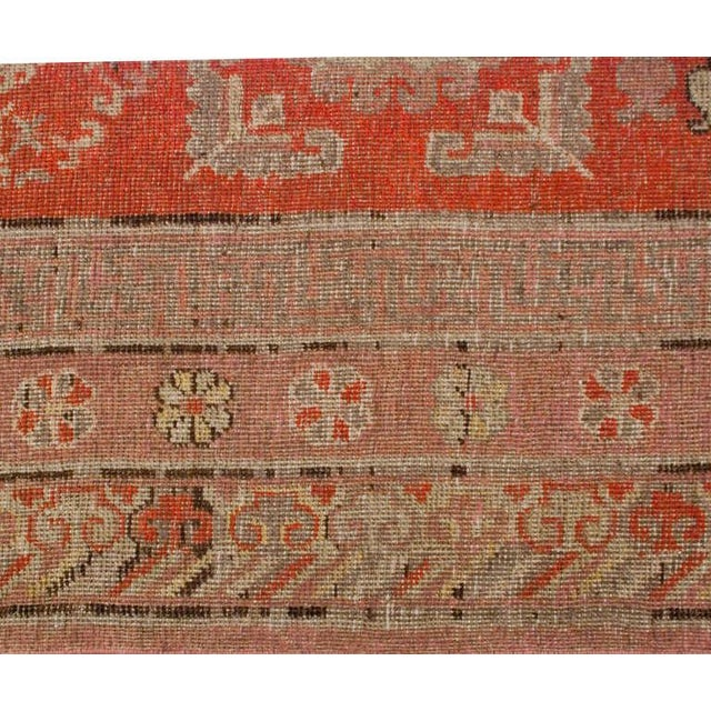 """Asian Late 19th Century Khotan Rug - 76"""" x 156"""" For Sale - Image 3 of 6"""
