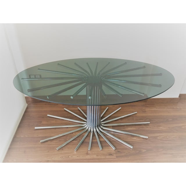 Mid-Century Chrome Starburst Dining Table For Sale In Miami - Image 6 of 12
