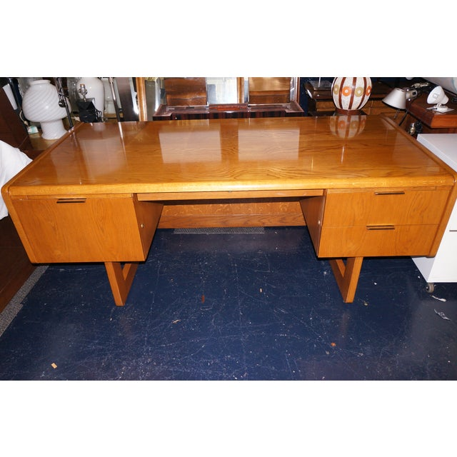 Mid-Century Modern Executive Desk and Credenza - Image 7 of 7