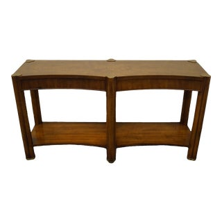 Weiman Furniture Asian Style Burled Walnut Accent Sofa Table For Sale