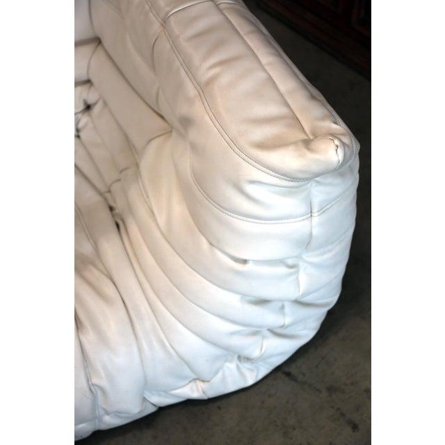 Contemporary Vintage White Ligne Roset Togo Sofa Set Designed by Michel Ducaroy For Sale - Image 3 of 13