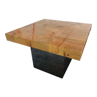 1970s Mid-Century Modern Milo Baughman for Thayer Coggin Mirrored Side Table For Sale