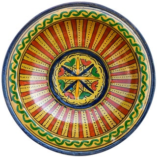 Afro-Moresque Ceramic Plate For Sale