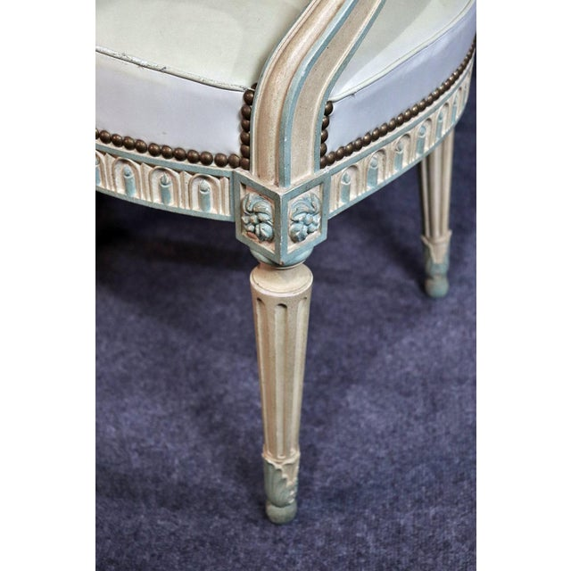 Mid 20th Century Set of 8 French Louis XVI Style Caned Back Dining Chairs For Sale - Image 5 of 13