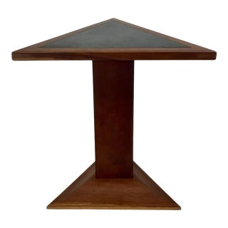 1980s Artisan Studio Made Triangular Stand With Slate Top For Sale