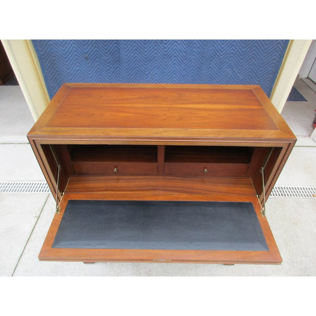 Baker Milling Road Campaign Style Secretary Desk For Sale - Image 9 of 13