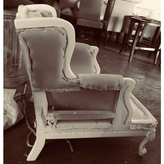 Hollywood Regency Cabana Striped Chairs - a Pair For Sale - Image 12 of 13