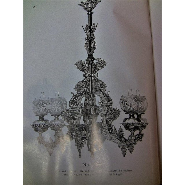 19c Bradley & Hubbard Cast Iron 6 Arm Chandelier For Sale - Image 12 of 13