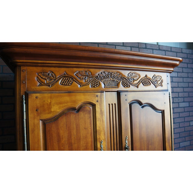 French 20th Century French Country Armoire For Sale - Image 3 of 11