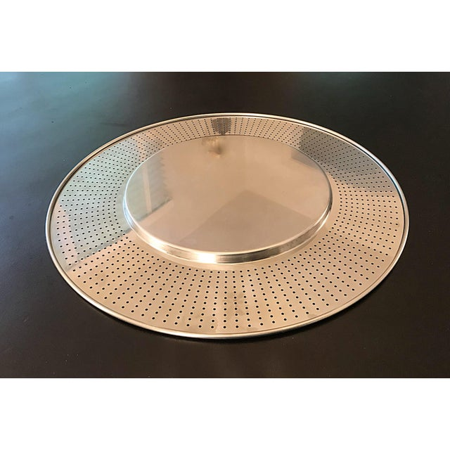 Alessi Round Polished Stainless Steel Tray For Sale - Image 11 of 12