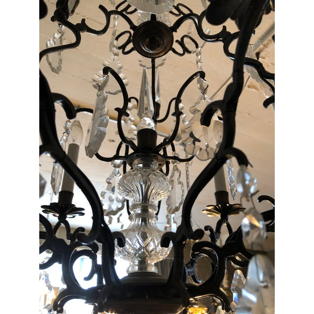 1940s Large Vintage Marie Therese Multi Tier Chandelier For Sale - Image 5 of 11