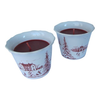 Juliska Country Estate Spiced Candleholders - A Pair For Sale