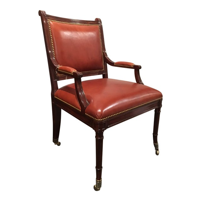 Theodore Alexander Regency Style Game Chair For Sale