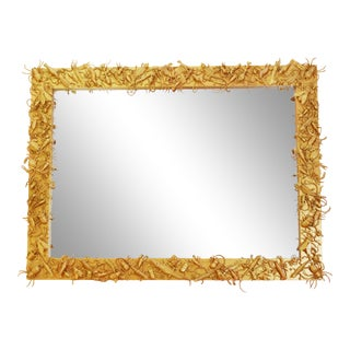 21st Century Ovresized 'Jungle' Mirror With Reptils by Diane Grant For Sale