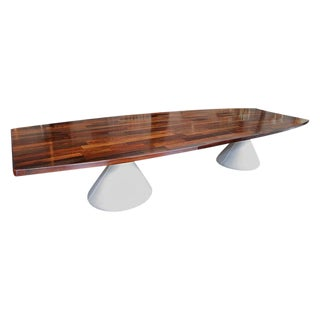 Parquet Brazilian Jacaranda Guarujá Dining Table For Sale