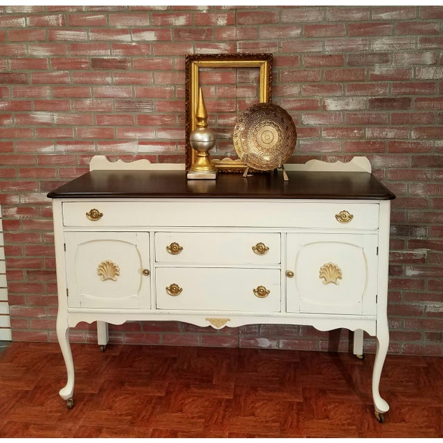 Farmhouse Style Buffet Table - Image 3 of 6