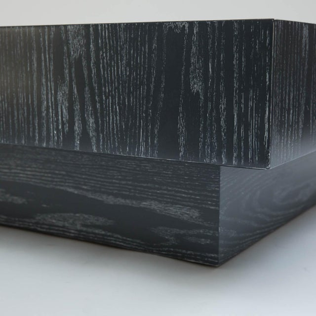 Modern Cerused Square Coffee Table - Image 5 of 9