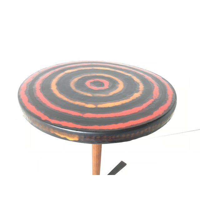 This is good as it gets for the Aldo Londi Bitossi Italian pottery tables. It has a bullseye or concentric ring design...