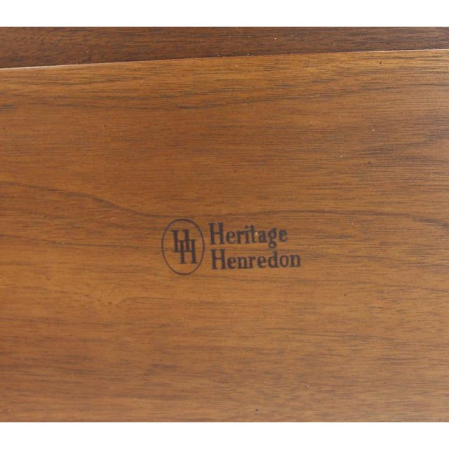 Mid-Century Modern Pair of Heritage Henredon Twin Beds For Sale - Image 3 of 8
